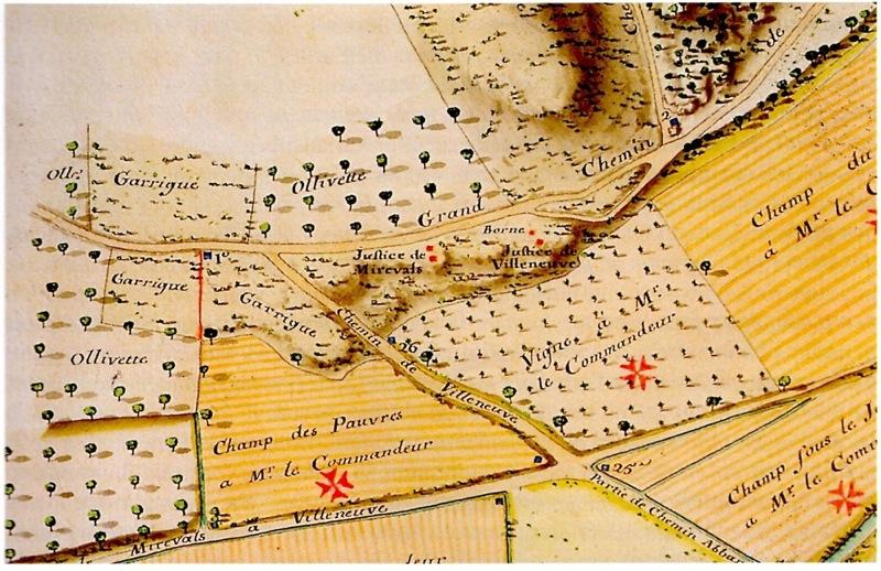 Plan de Mireval XVIIIe s.
