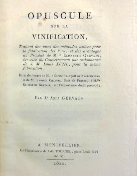 Melle Elizabeth Gervais, une femme dans les archives du vin au XIXe siècle à Montpellier